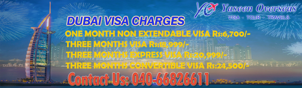 Dubai visit Visa from hyderabad