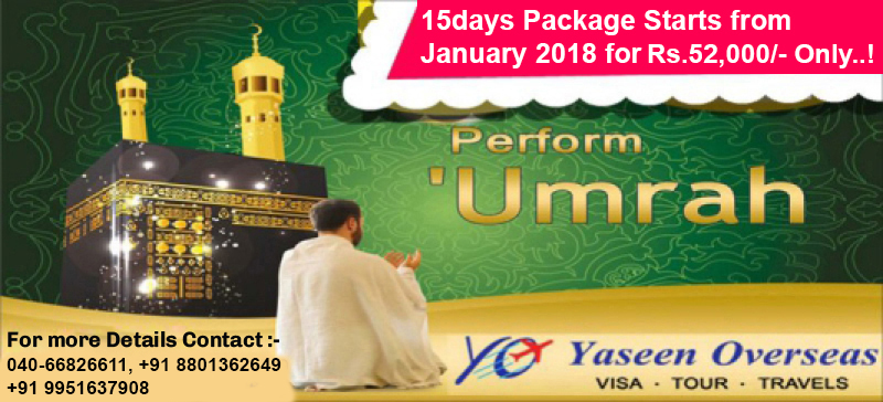 Umrah Visa Packages From Hyderabad